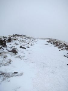 The last section up to the summit of Pen-y-Fan, completely frozen and iced