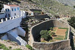 The monastery of Zoodohou Pighis and its magnificent walled vegetable garden