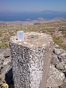 On the top of the world with a Fathers' Day card (which this year coincided with the solstice)