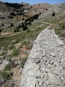 The sweeping curve of a section of exceptionally well preserved kalderimi