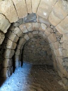 .... and inside the barrel-arch construction is the reason that they survive for centuries despite tremors and eruptions