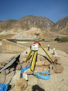 More sophisticated monitoring equipment in the middle of the caldera