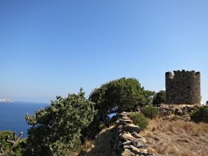 Approaching the windmill on the hill overlooking Mandraki