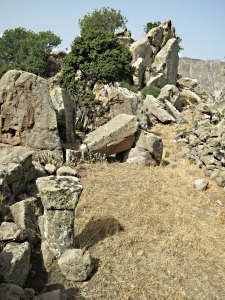 Part of the platform on top, with a small stone altar