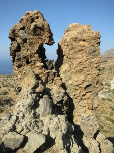A closer look at one of the Breccia pillars