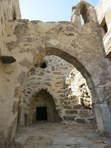 Inside the avli (small inner courtyard)