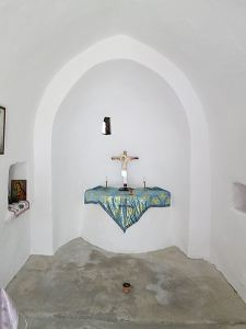 ... and inside is beautifully kept with a simple altar