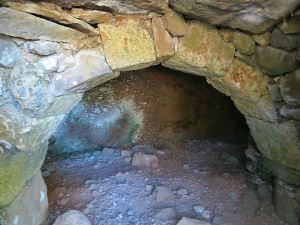 ..... inside a small cave dwelling
