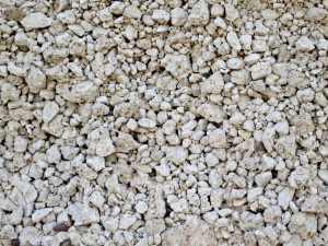 A closer look at the pumice of the cliff face